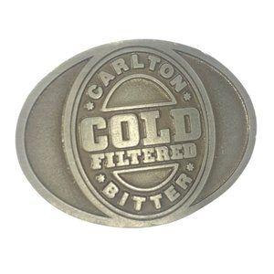 Carlton Cold Vintage Belt Buckle Mens Thick Metal Buckle Australian Made